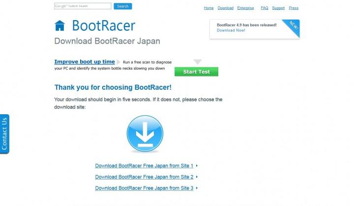 BootRacerの日本語版をダウンロード