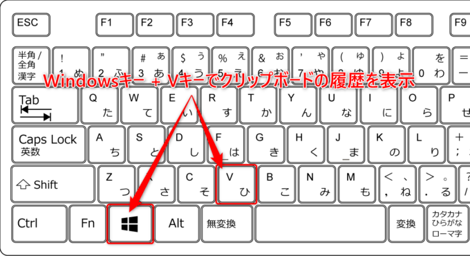Windows10のクリップボード履歴機能の使い方