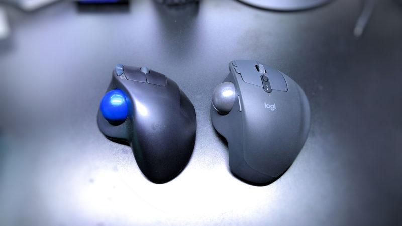 「MX ERGO」と「M570t」の本体サイズ比較