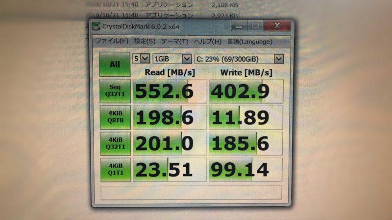「シリコンパワー 2.5インチ SATA3 SSD 1TB A55シリーズ」のベンチマーク結果