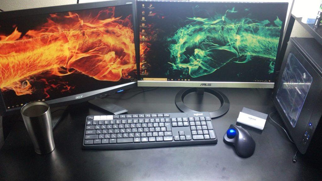 パソコンを2画面(デュアルディスプレイ)にすると驚く程作業効率が上がる!その設定方法などを解説