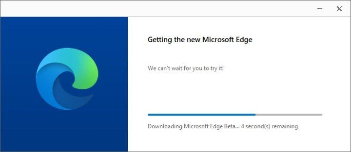 Chromiumu版 「Microsoft Edge」のβ版のインストール