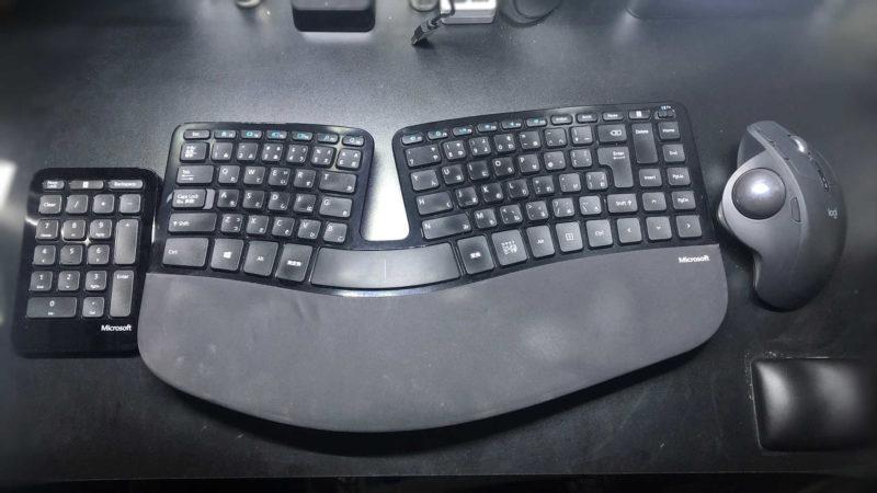 自分の現在のキーボードなど入力作業環境