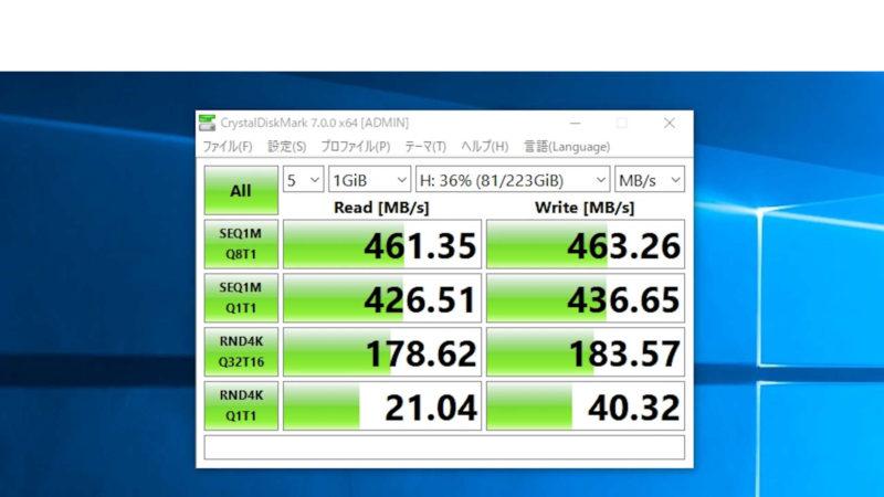 SumsungのSSD「2.5インチSSD 1TB 860QVO MZ-76Q1TB」のベンチマーク結果