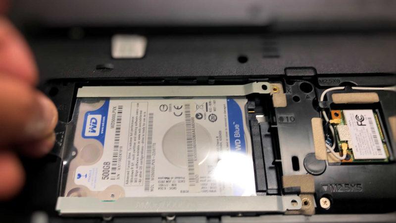 ノートPC内蔵HDDの外し方