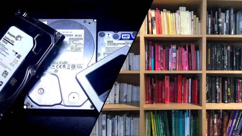 ハードディスクやSSDは本棚に例えられる