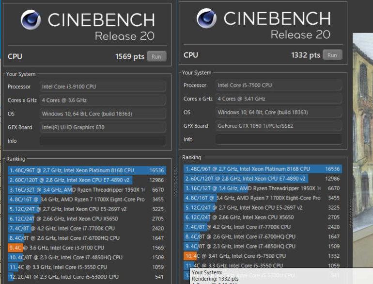 CPUのベンチマーク