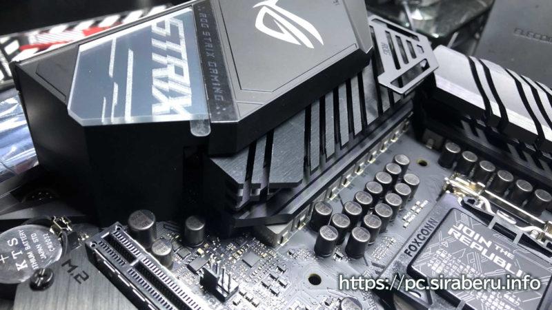 ROG STRIX Z490-G GAMING(WI-fI)VRMヒートシンク