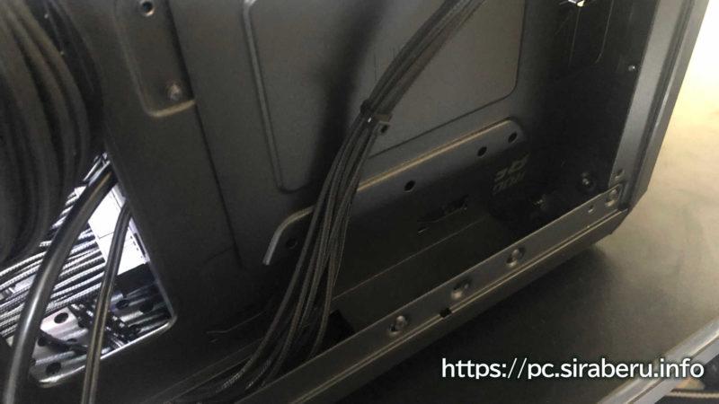 MasterBox Q300Lの裏配線スペースの大きさ