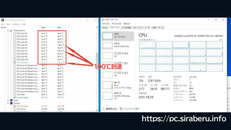 ASUS MultiCore EnhancementがAUTO時に、純正CPUファンでは無理