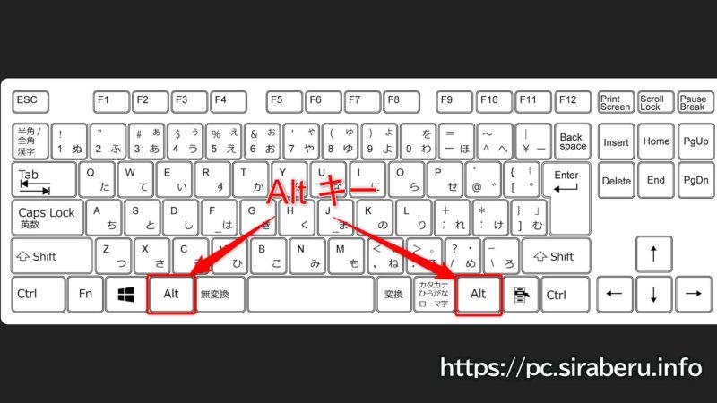 Alt(オルト)キーを使ったキーボードショートカットキー