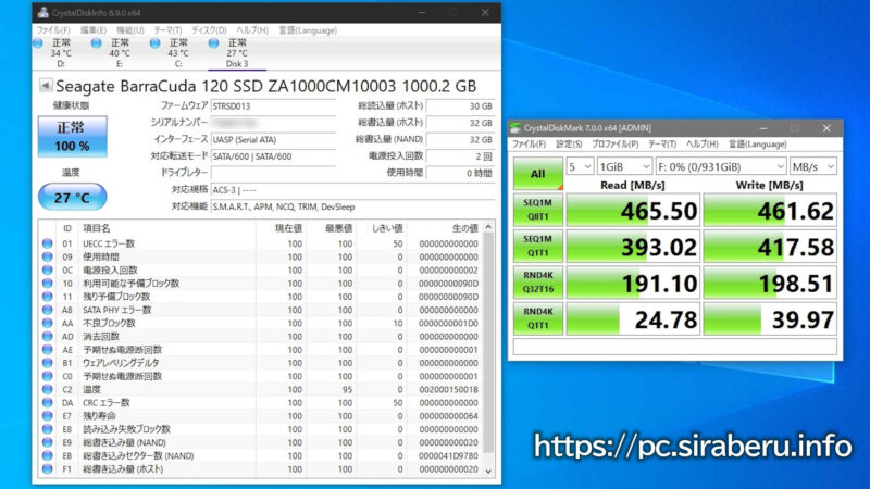 BarraCuda 120 2.5インチSSD 1TBのベンチマーク結果