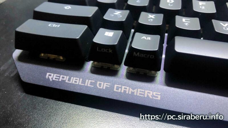 ASUS ROG「STRIX SCOPE TKL 赤軸」日本語配列ゲーミングキーボード