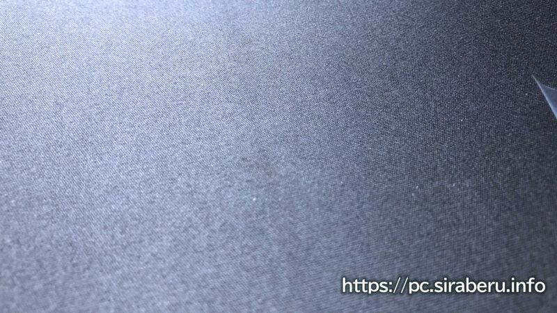 ゲーミングマウスパッド MP-G03BKの表面生地アップ