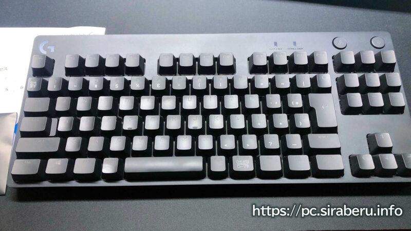「G PRO X」 ゲーミングキーボード(G-PKB-002)の同梱物本体