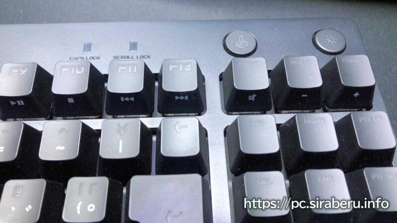 「G PRO X」 ゲーミングキーボード(G-PKB-002)キー部分のアップ画像
