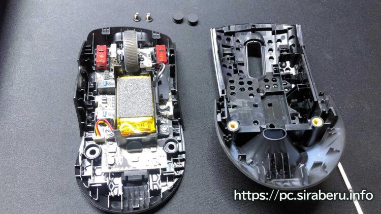 「ROG Keris Wireless(P513)」を分解した状態