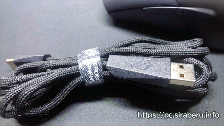 「ROG Keris Wireless(P513)」充電用USB Type-C パラコード