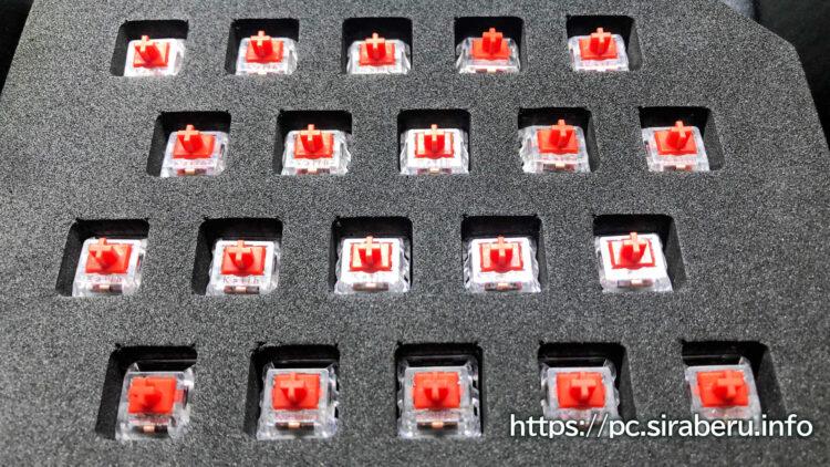 Logicool「G PRO X」 ゲーミングキーボード(G-PKB-002)用GX REDリニア軸